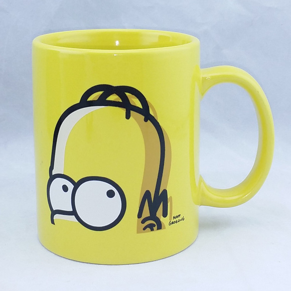 The Simpsons Other - The Simpsons Homer Coffee Mug Rare Yellow Cup 12oz
